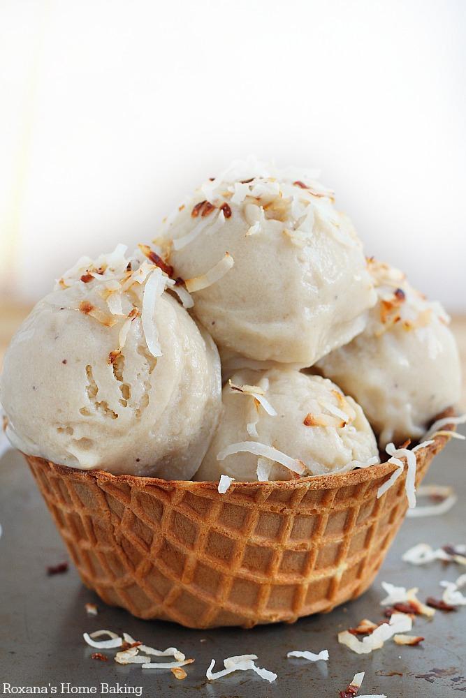 roasted banana coconut ice cream recipe 2