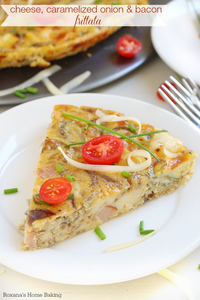 ... cheese caramelized onion and bacon frittata is perfect for breakfast