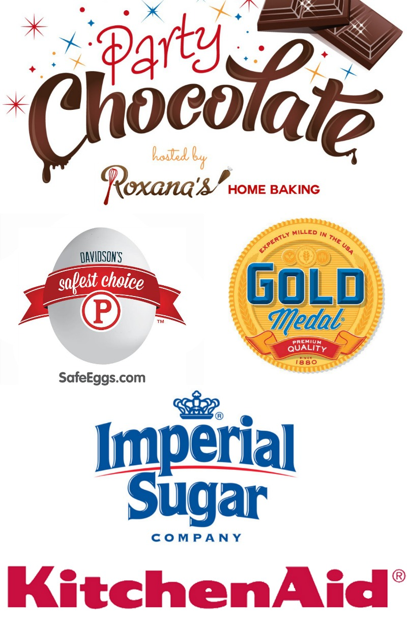 Share your chocolate recipe for a chance to win amazing prizes. Details at Roxanashomebaking.com #chocolateparty