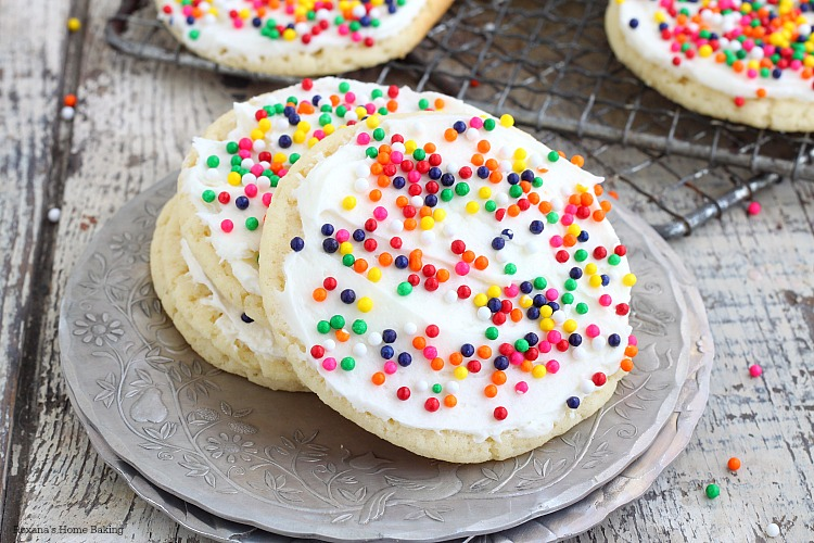 Frosted sugar cookies recipe