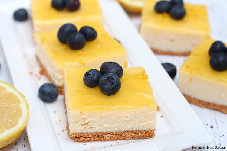 Double lemon cheesecake bars recipe