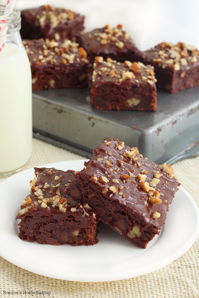 Nutty chocolate chip brownies recipe