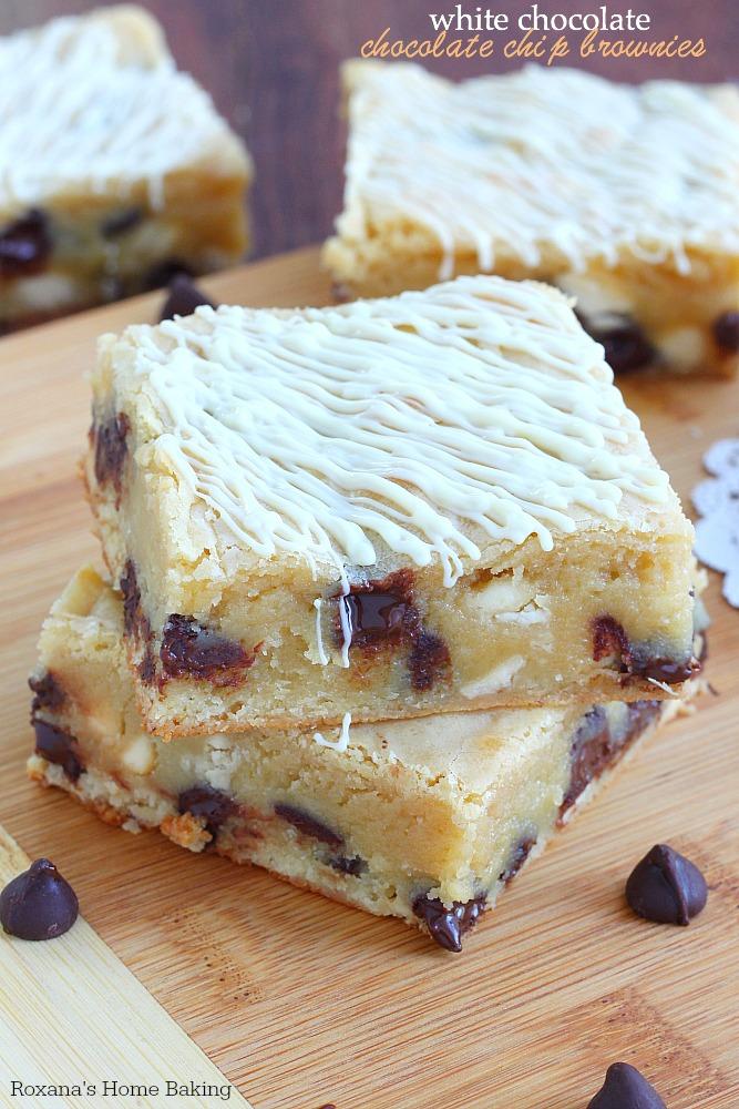 White Chocolate Brownies Recipe — Dishmaps
