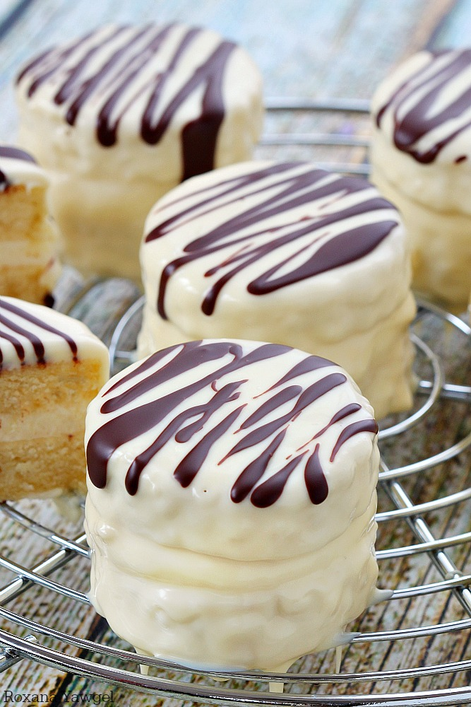 Inf With Vanilla Flavor And Coated In White Chocolate Dark Stripes These Made