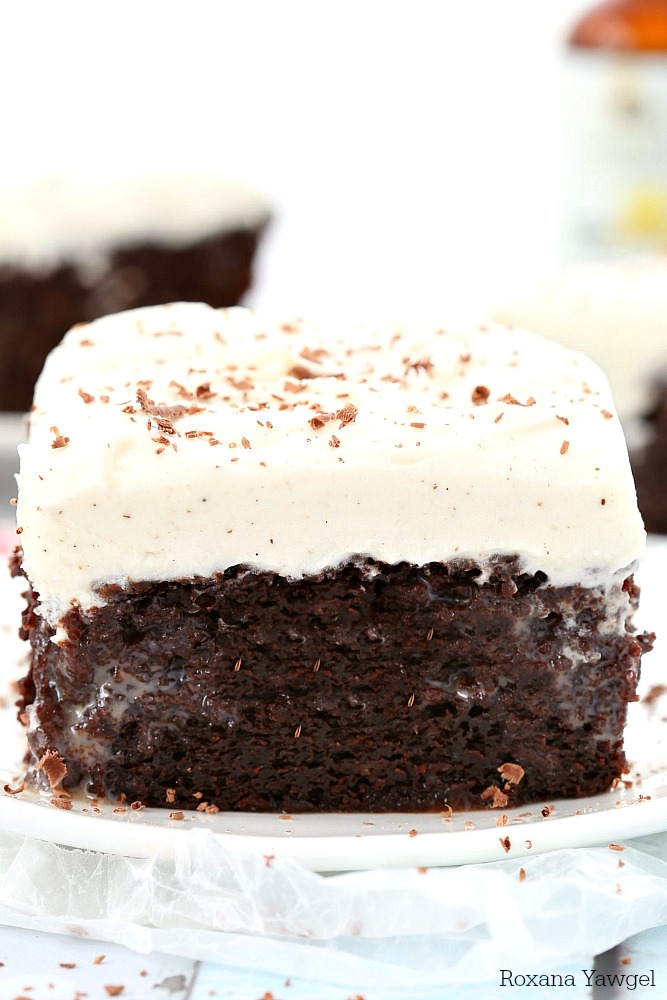With a secret ingredient that brings out all the chocolate goodness from both the baking chocolate and cocoa powder, this made from scratch double chocolate poke cake with vanilla bean frosting will be everyone's favorite!