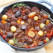 One pot beef vegetable skillet