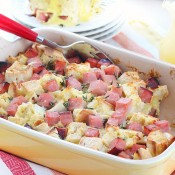 Overnight eggs benedict casserole recipe and a Le Creuset giveaway