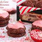 Candy cane fudge brownie cookies
