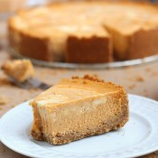 Marble pumpkin cheesecake